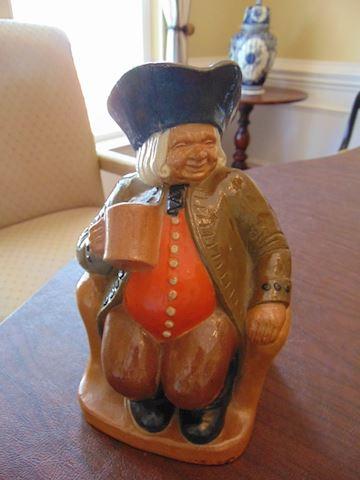 Vintage English Figurine Decanter