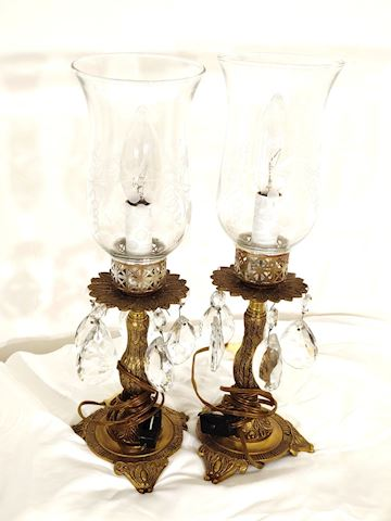 Antique Candle Stick Lamps