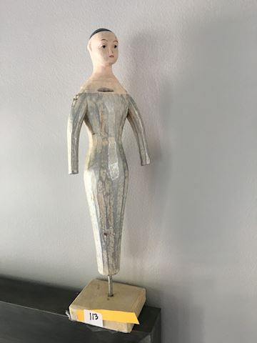 Carved Wooden  Woman Figurine