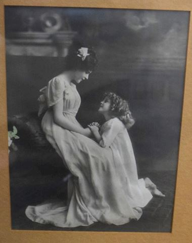 Antique Early 1900s Silver Gel Photo Print