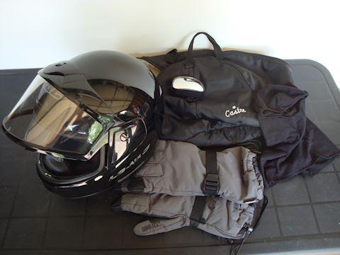 HJC LS Air 3 helmet, Gore-Tex glove mirror Lot #63