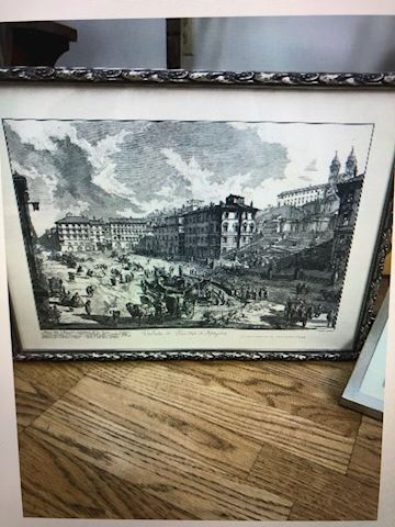 Lithograph black and white