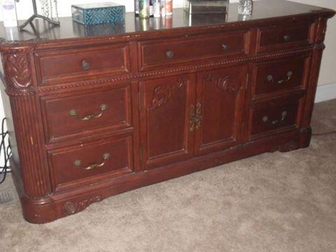 Seven Drawer, Two Door Dresser