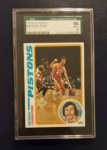 Graded Vintage 1978 Chris Ford Basketball Card
