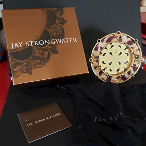 "JAY STRONGWATER BEJEWELLED FRAME 3"" IN GIFT BOX"