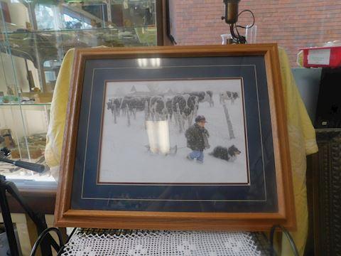 """Oak Framed """"Curious Onlookers"""" by Robert Duncan"""