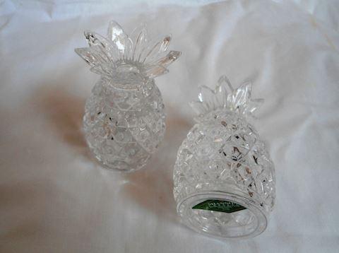 Pair Crystal Pineapple Salt and Pepper Shakers