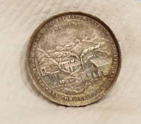 1876 Coin Pure Silver Bullion U.S. Medal
