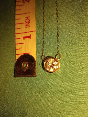 10k necklace and pendant, CZ.