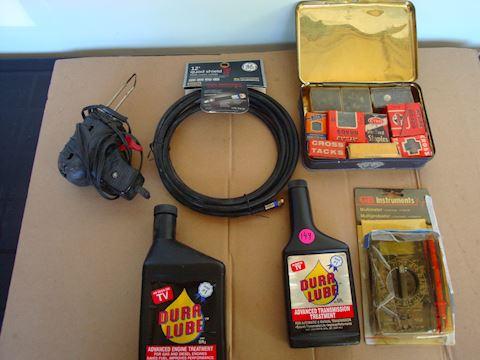 Soder gun, Dura lube, coax cable Lot # 149