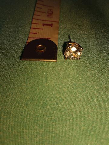 14k CZ stud single earring