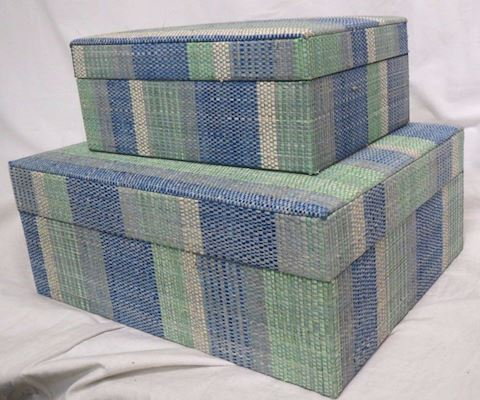 Made Goods Set of 2 Decorative Wicker Boxes