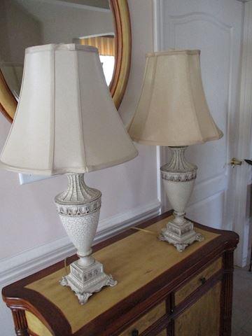 Matching ceramic lamps.