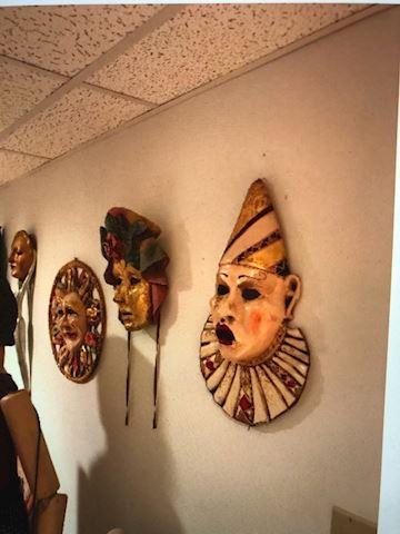 three wall ceramic masks