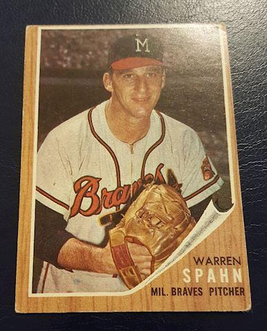 1962 Warren Spahn Baseball Card #100