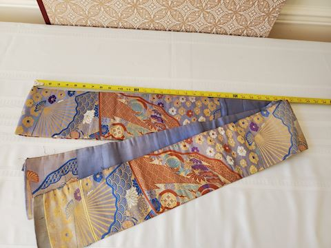Multi-color & long Japanese silk textile