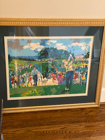 "Neiman Serigraph ""April in Augusta"" Hand Signed"