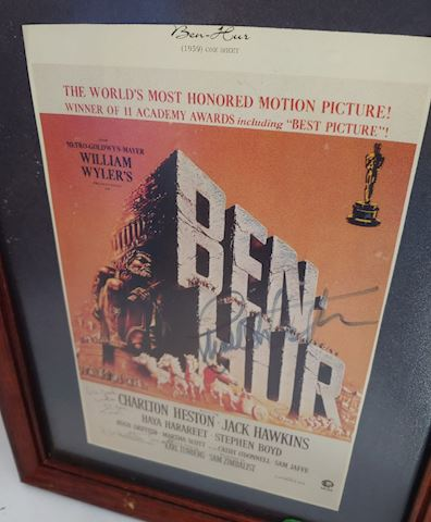 Ben Hur, Signed Charlton Heston / Martha Scott
