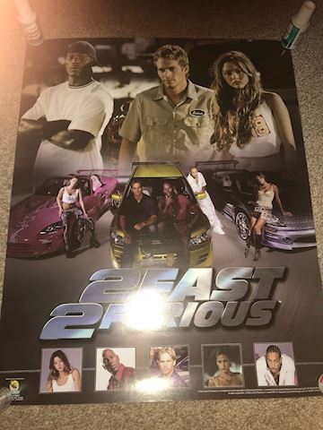 2Fast 2 Furious hard to find 16 X 20 Poster