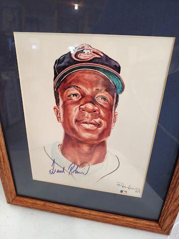 Frank Robinson, Baseball Signed Portrait