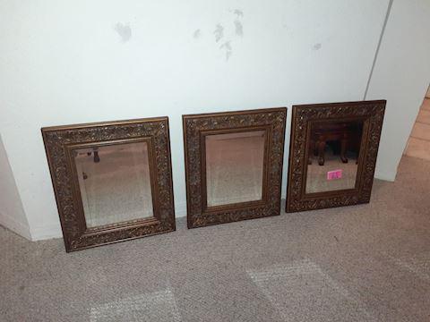 Set of 3 Matching Mirrors
