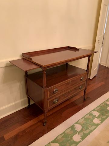 Rare Buffet Table w/ Adjustable Side Slides