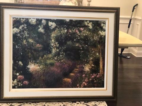 Oil Painting Called Promenade through the garden