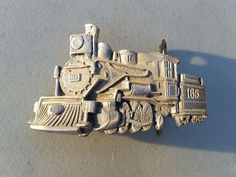 train locomotive vintage belt buckle