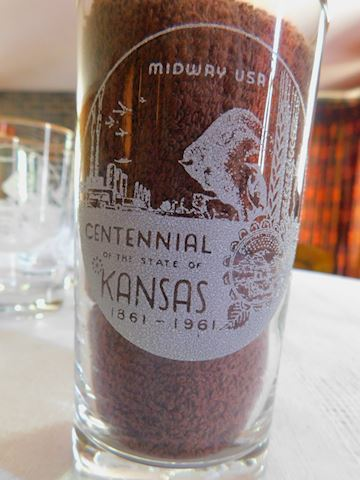 004 Set of 6 Kansas Centennial Glasses