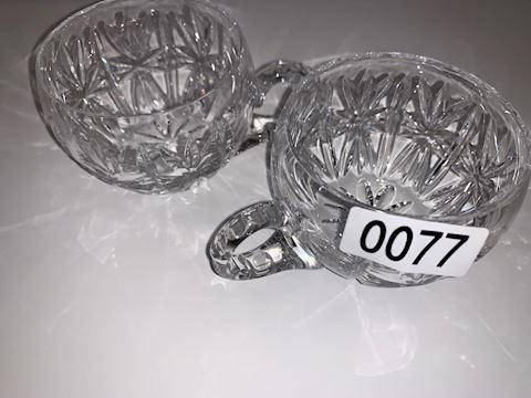 0077 Sunburst punch-bowl cups