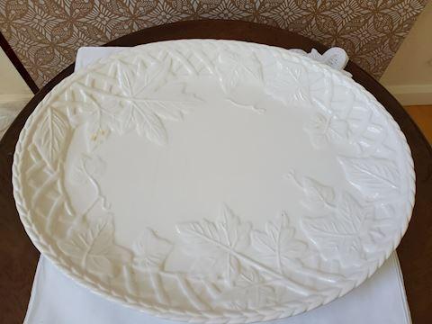 Serving platter with trellis and leaf platter