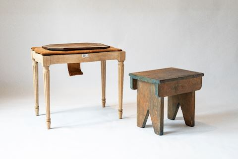 Lot 0011 Assorted 4 piece stool and table  set