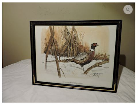 "Art Signed R.J. McDonald ""Ringed Necked Pheasant"
