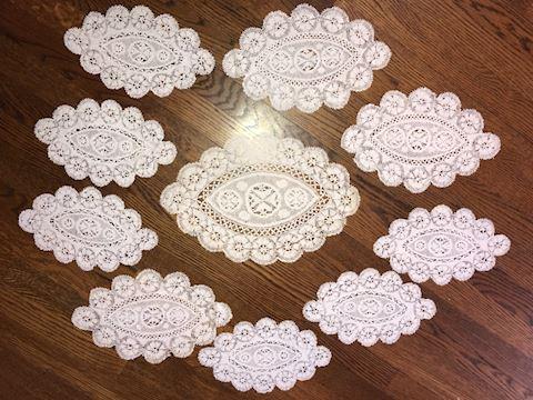 10 Piece Belgian Lace Lot