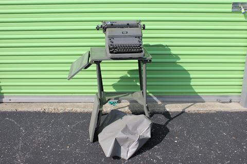Vintage Royal Typewriter on Metal Stand