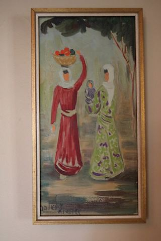 MILIA LAUFER ORIGINAL PAINTING WOMEN WITH BABY