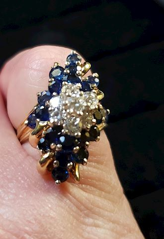 Sapphire and diamond ring, appraised at $6470!