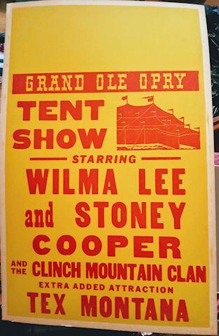 Grand Ole Opry VINTAGE Wilma Lee & Stoney Cooper