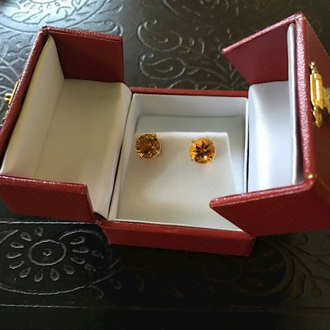 3.30 CTTW Citrine Lady's Earrings