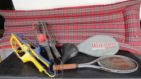 wilson tennis racket, retro air matt etc. Lot #85B