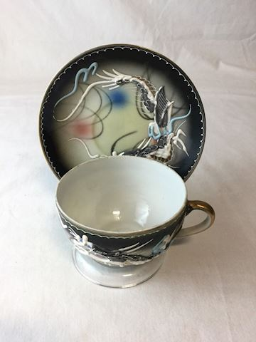 embossed dragonware tea cup saucer 80S16