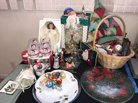 Christmas decor and ribbon