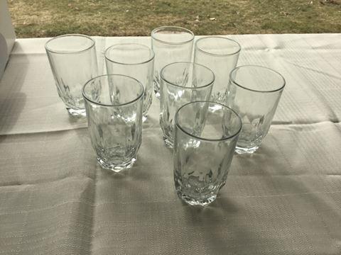 Set of 8 4oz glasses