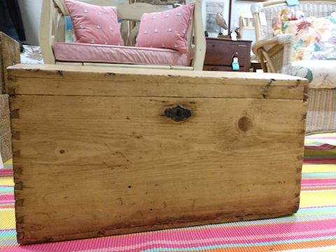 Pine Wood Dome Top Chest