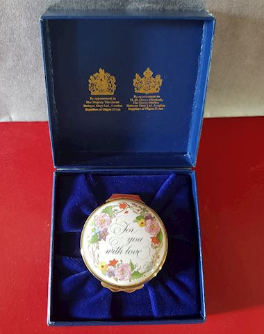 HALCYON DAYS FOR YOU WITH LOVE TRINKET BOX IN BOX