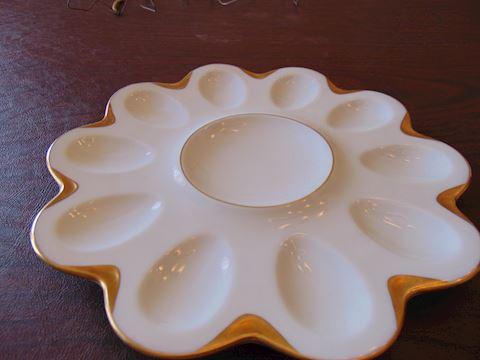 Limoges Egg Plate