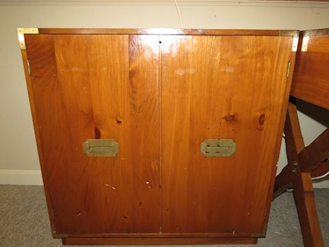 Pine Cabinet with Brass Handles by Mastercraft