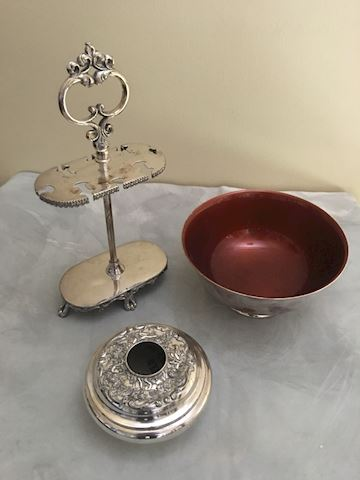 Collection of Antique and Vintage Silverplate Item