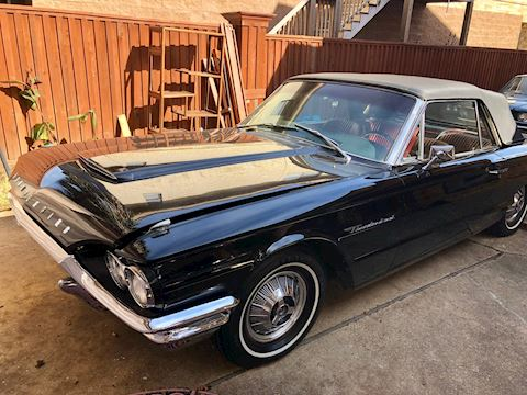 1966 FORD THUNDERBIRD CONVERTIBLE - BLACK