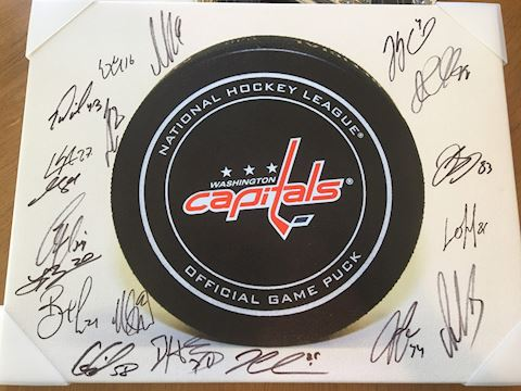Autographed Washington Capitals Hockey Print